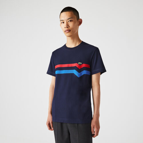 Men's Made In France Striped Organic Cotton T-shirt