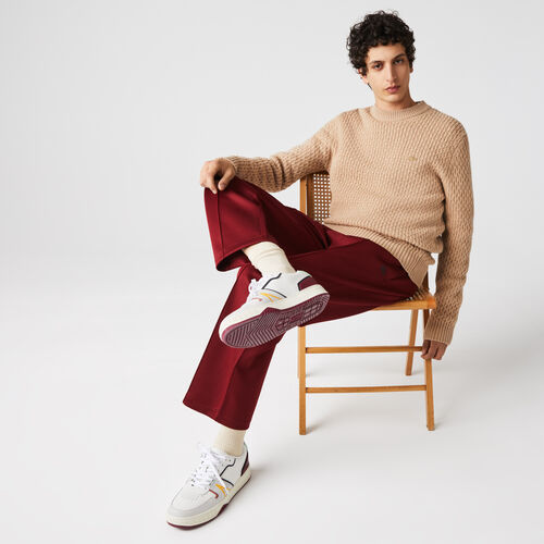 Men's Crew Neck Wool And Cashmere Cable Knit Sweater