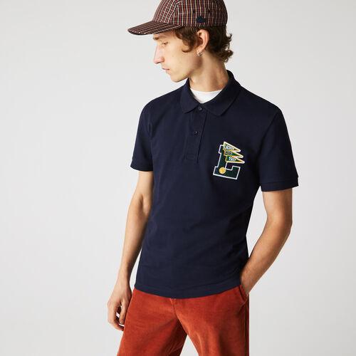 Men's Lacoste Regular Fit L Badge Cotton Piqué Polo