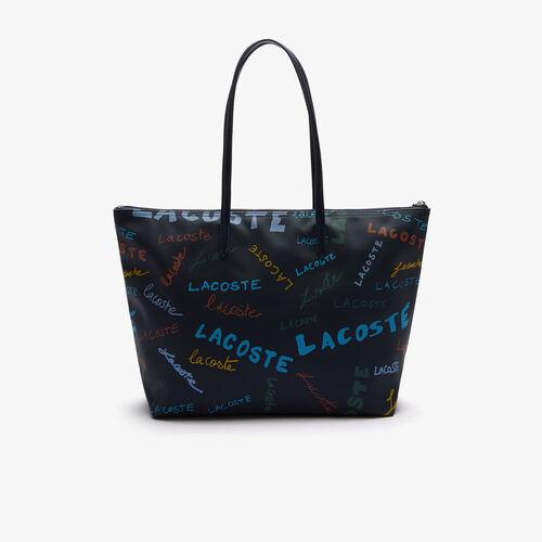 Women's L.12.12 Print Large Piqué Canvas Shopper Bag