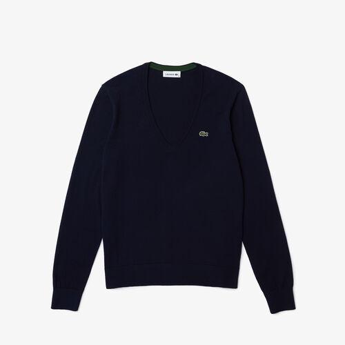 Women's V-neck Organic Cotton Sweater