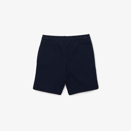 Boys' Lacoste Lettered Fleece Shorts