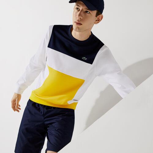 Men's Lacoste Sport Resistant Colorblock Piqué Sweatshirt