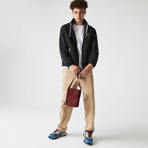 Men's Chantaco Graphic Piqué Leather Vertical Zip Crossbody Bag