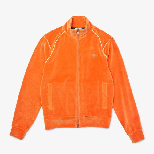 Unisex Lacoste L!ve Zippered Velvet Sweatshirt